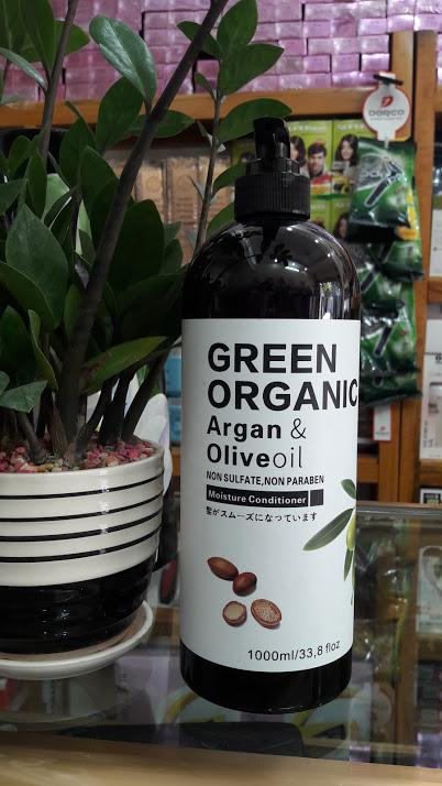 Dầu xả Argan & oliu Green Organic Nhật Bản 1000ml