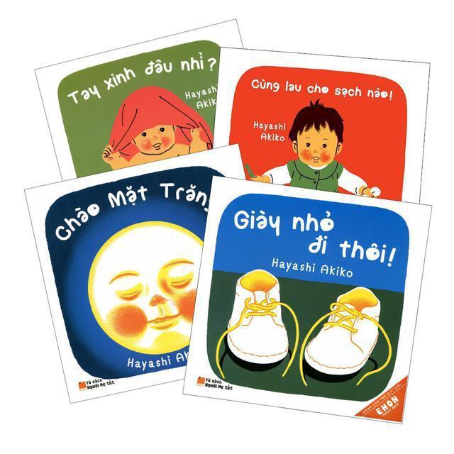 Mua Sách - Combo Ehon Tay Xinh- Giày Nhỏ- Chào Mặt Trăng- Cùng Lau Cho Sạch