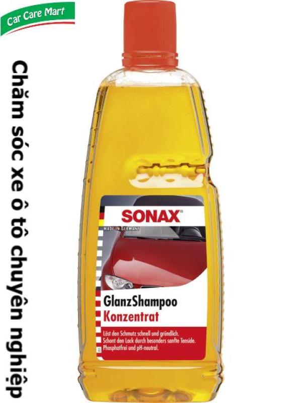 Nước rửa xe oto đậm đặc, bóng loáng 1000ml - Sonax gloss shampoo concentrate
