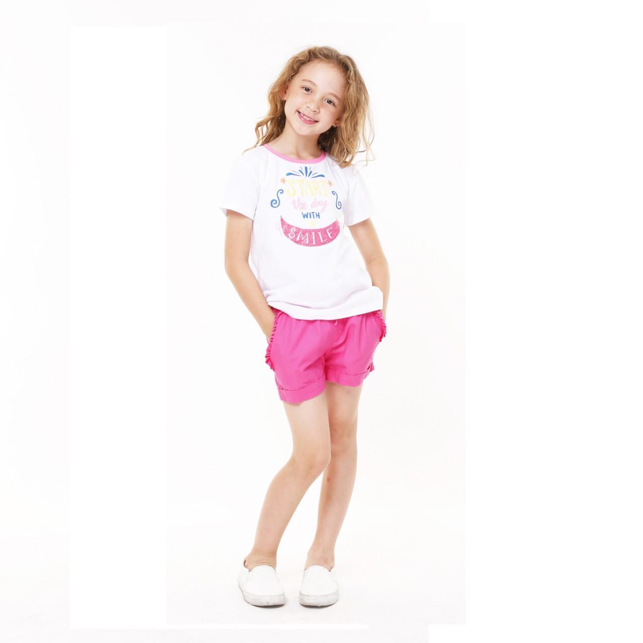Hình ảnh Quần short khaki bé gái (Pink)