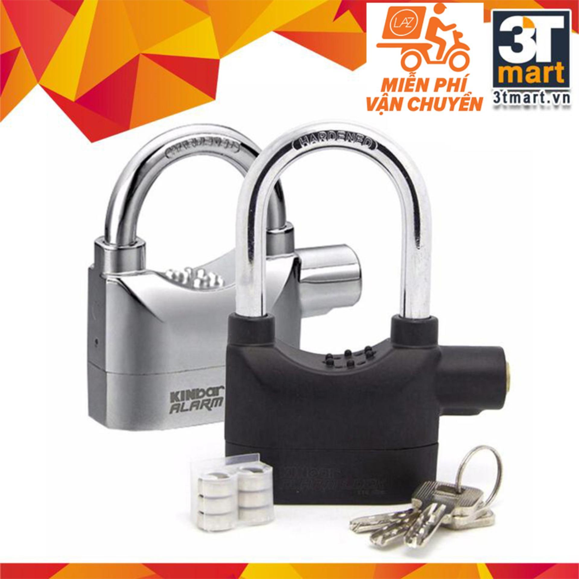 Hình ảnh Bộ 2 khóa chống trộm thông minh Kinbar 109206 (Đen bạc)