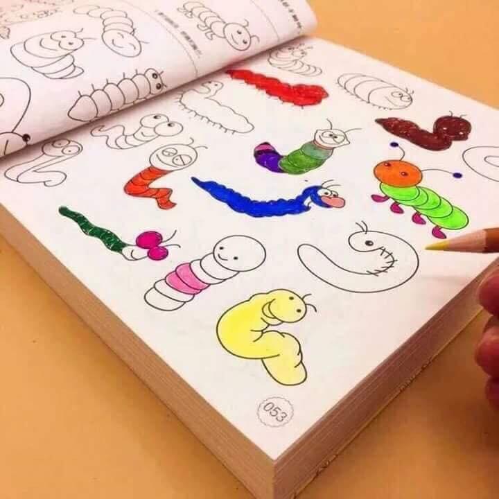 Mua Sách tô màu 5000 hình và 12 cây bút chì màu