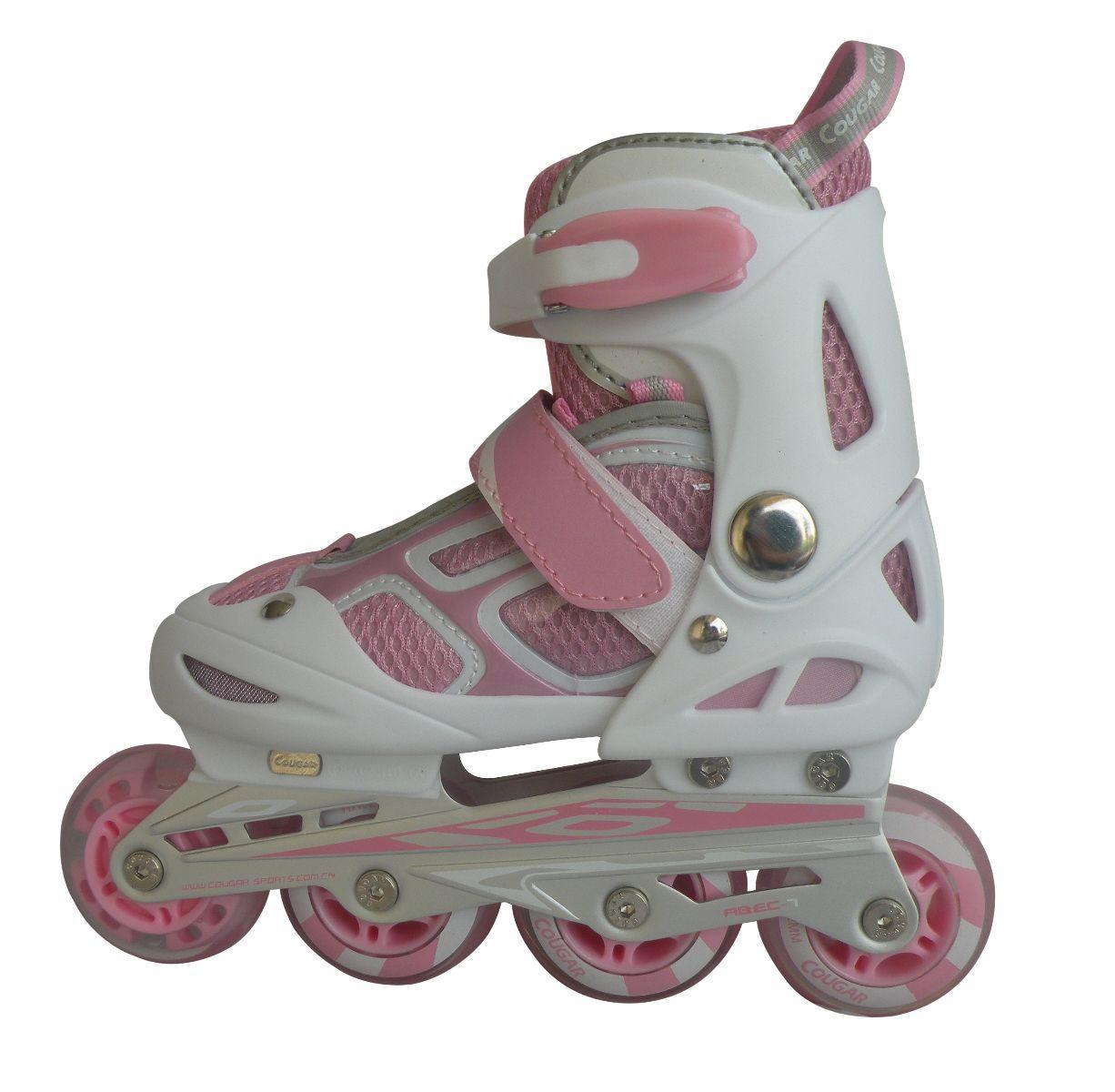 Giày trượt Patin Cougar MS835LSG Trắng Hồng ( Size 30-34 )