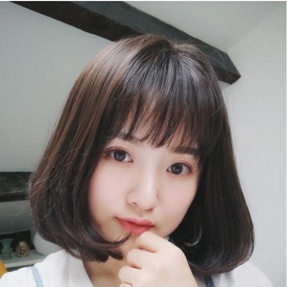 Tóc giả nữ Hàn Quốc cao cấp + tặng kèm Lưới trùm tóc -  TG9170 ( MÀU NÂU TỐI NHƯ HÌNH )
