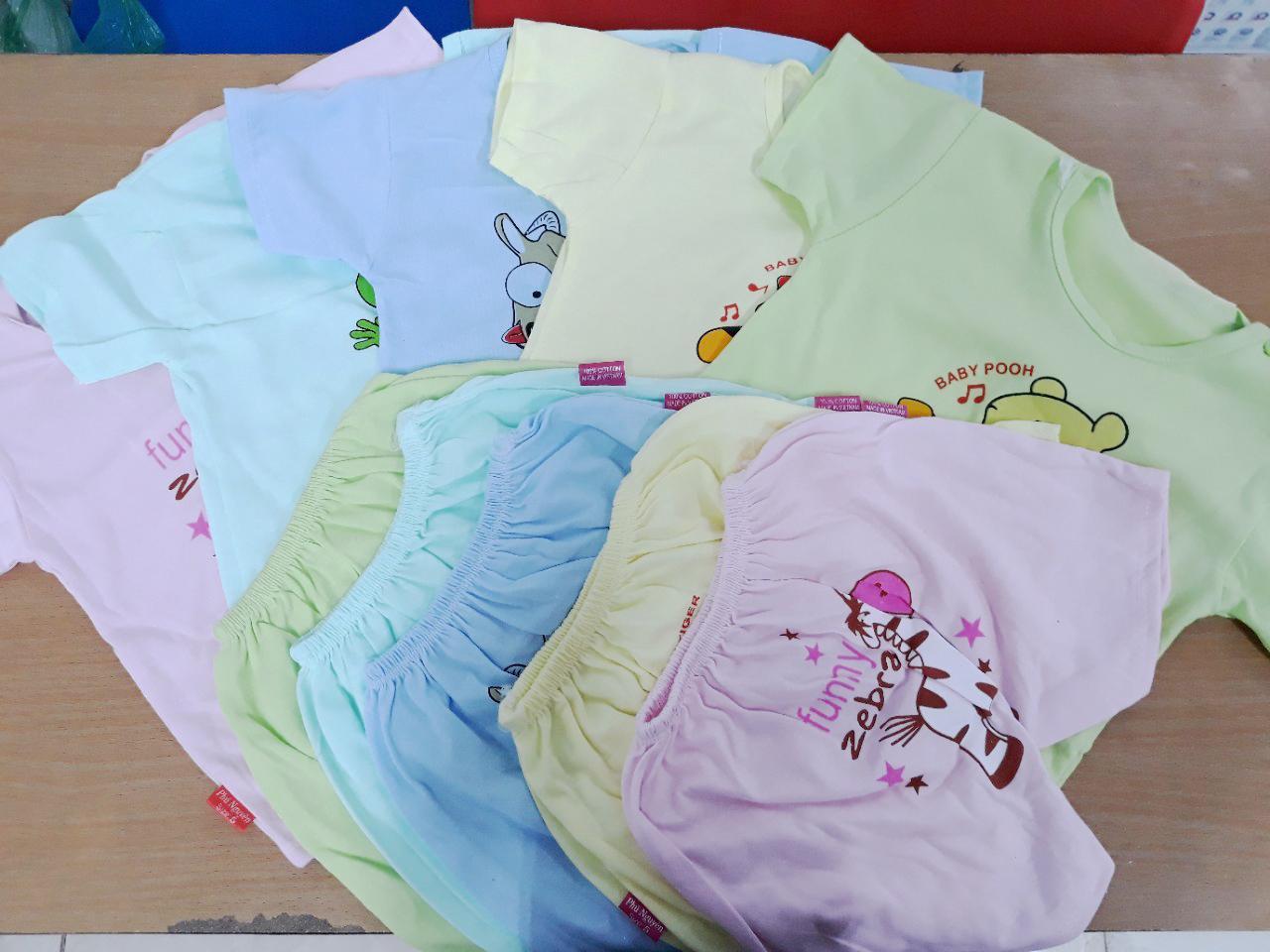 Hình ảnh Set 5 Bộ cotton nhiều màu cute cho bé yêu1- BK3 + Tặng kèm thẻ tích điểm1 Verygood