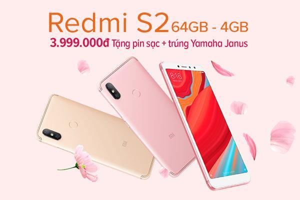Giảm giá sốc Xiaomi Redmi S2 năm 2018