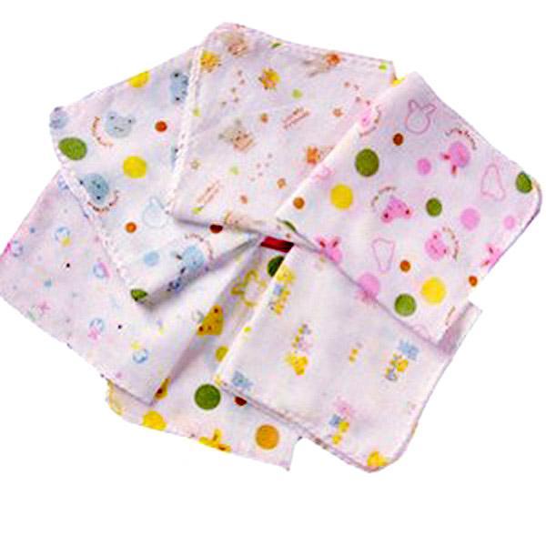 Set 10 khăn sữa xô hoa 2 lớp (100% cotton)