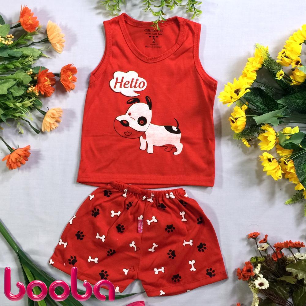 Hình ảnh Combo 5 bộ áo ba lỗ quần đùi cho bé trai bé gái (ảnh thật)_BD07