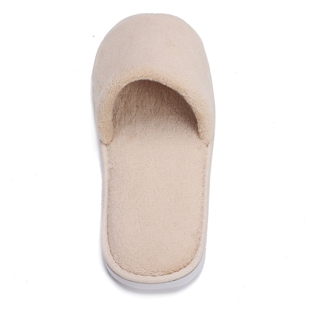 Men Women Coral Velvet Open Toe Hotel Home Spa Slippers Travel Shoes Thick 7mm Brown . Source ... Open Toe Ladies Thick Heel Slippers - intl.