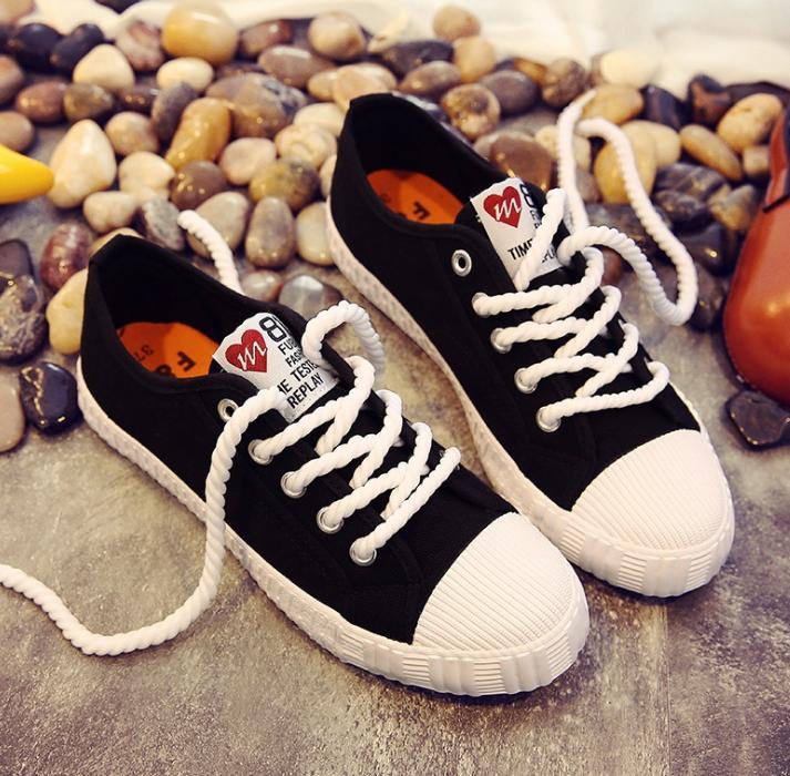 Sneaker nữ sinh  4 mầu dây thừng 060