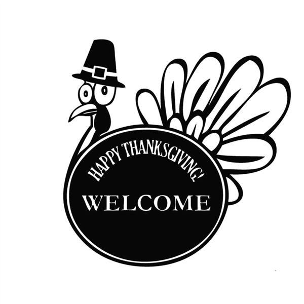 PVC Stiker Tembok Selamat Datang Selamat Hari Thanksgiving Vinil Kutipan Stiker Dinding Jendela Dapur Dekorasi Dapat