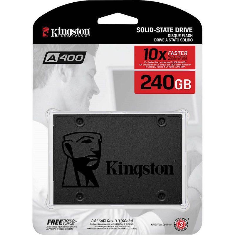 Hình ảnh Ổ cứng SSD Kingston A400 SATA 3 240GB SA400S37/240G (Xám đen)