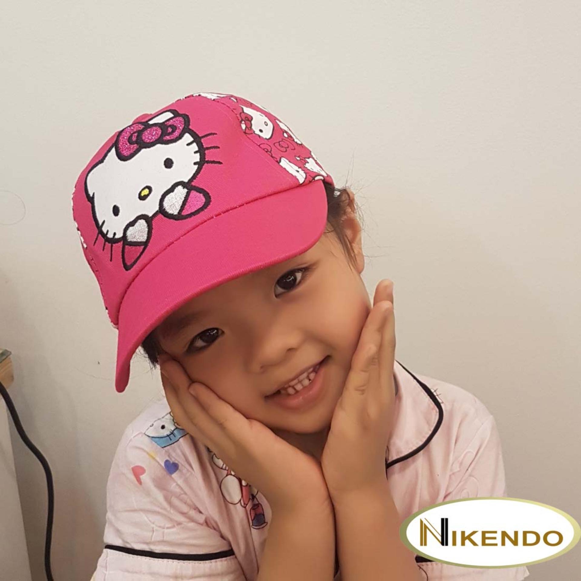 Giá bán Mũ  lưỡi trai hình Mèo Hello Kity cho bé gái