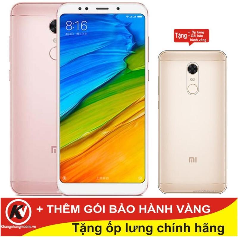 Xiaomi Redmi 5 Plus 32GB Ram 3GB Kim Nhung (Hồng) - Hàng nhập khẩu + Ốp lưng silicon + Gói bảo hành vàng