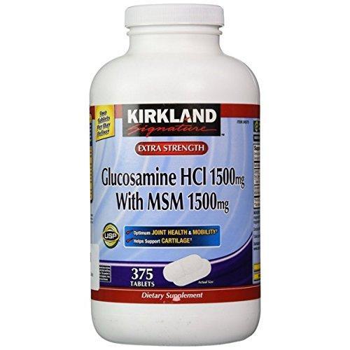 Bán Vien Uống Bổ Khớp Kirkland Signature Glucosamin Hcl Msm 1500Mg 375 Vien Trực Tuyến