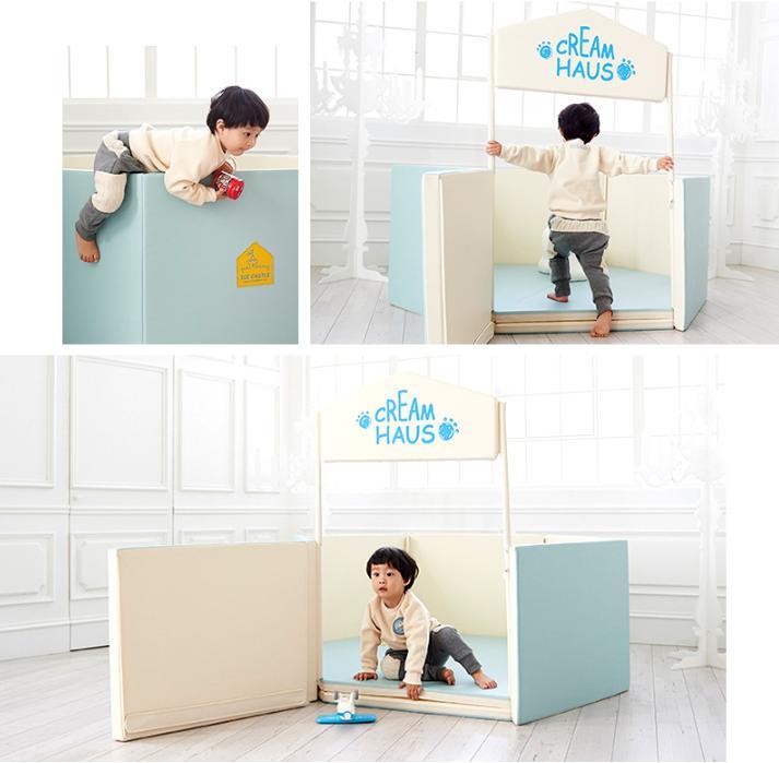 Hình ảnh CreamHaus - ICE CASTLE YT Mat+Guard (140x120x60cm),YELLOW EGDE,BLUE EDGE,BLUE MONO,PINK MONO,lều hình lực giác,đệm đa năng, giường ngủ, giường riêng cho bé, thành đệm, đệm dán tường,an toàn cho bé, bé yêu,đệm chơi, nhà bóng, thảm chơi, lều bóng, bóng chơi