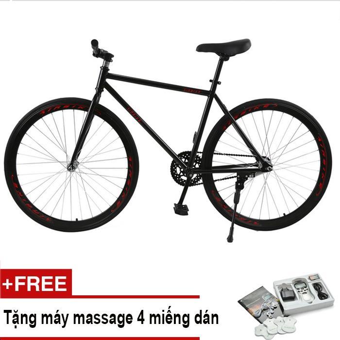 Xe đạp Fixed Gear Air Bike MK78 (đen) + Tặng vật lý trị liệu 4 miếng dán