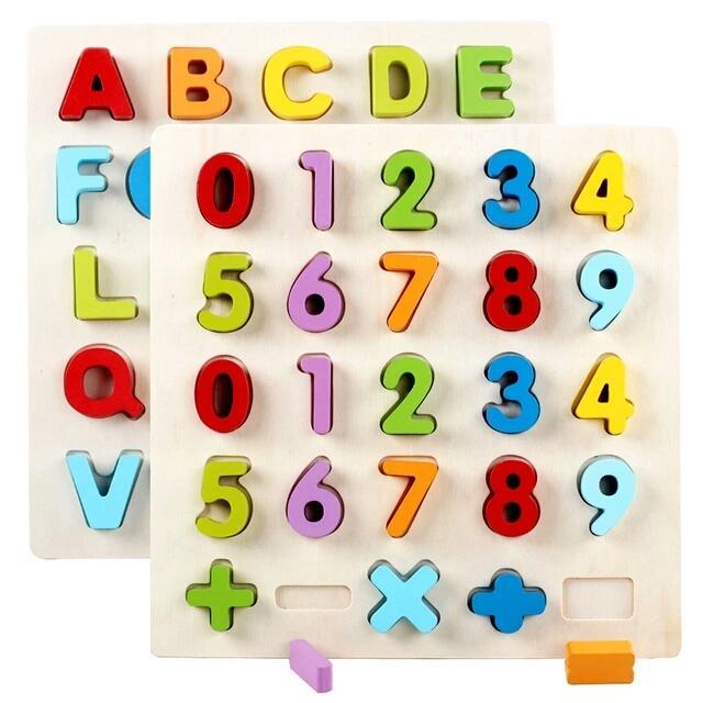 Hình ảnh Bảng chữ cái, chữ số nổi 3D (Kt: 30*30cm)