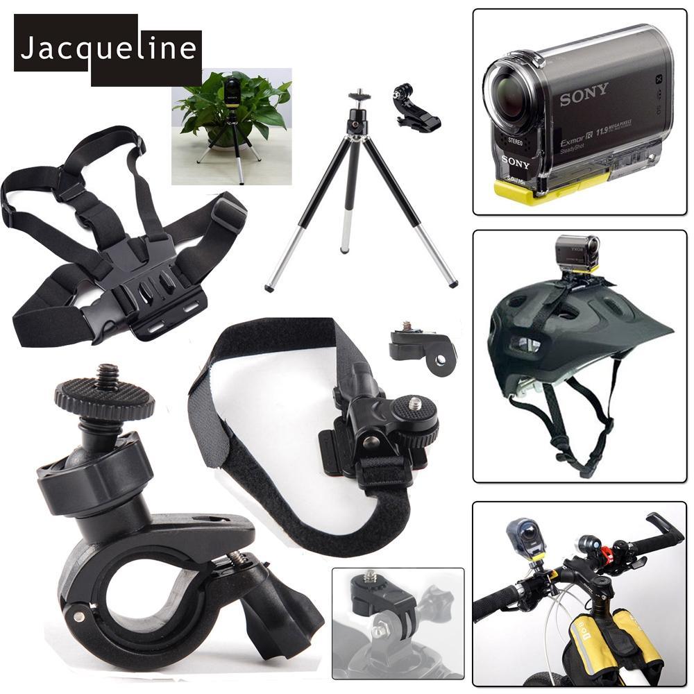 Jacqueline untuk Ion Udara Pro 2/3 Helm Dudukan Perlengkapan untuk Aksi Kamera HDR AS50 AS20 AS200V AS30V AS100V AZ1 Mini FDR-X1000V/W 4 K-Internasional