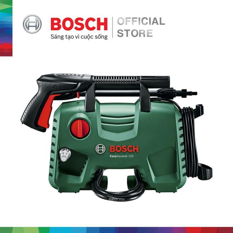 Combo Máy phun xịt rửa áp lực cao Bosch Easy AQT 110 kèm Dây nối dài 6m và Đầu phun 90 độ