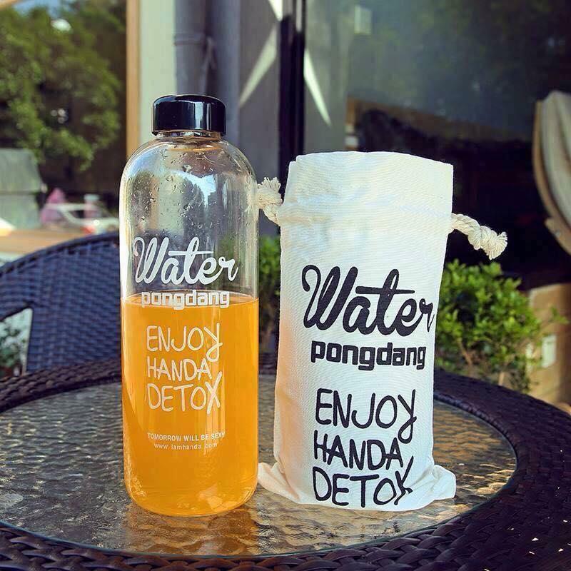 Hình ảnh BÌNH NƯỚC DETOX Water PongDang 1L + TÚI ĐỰNG