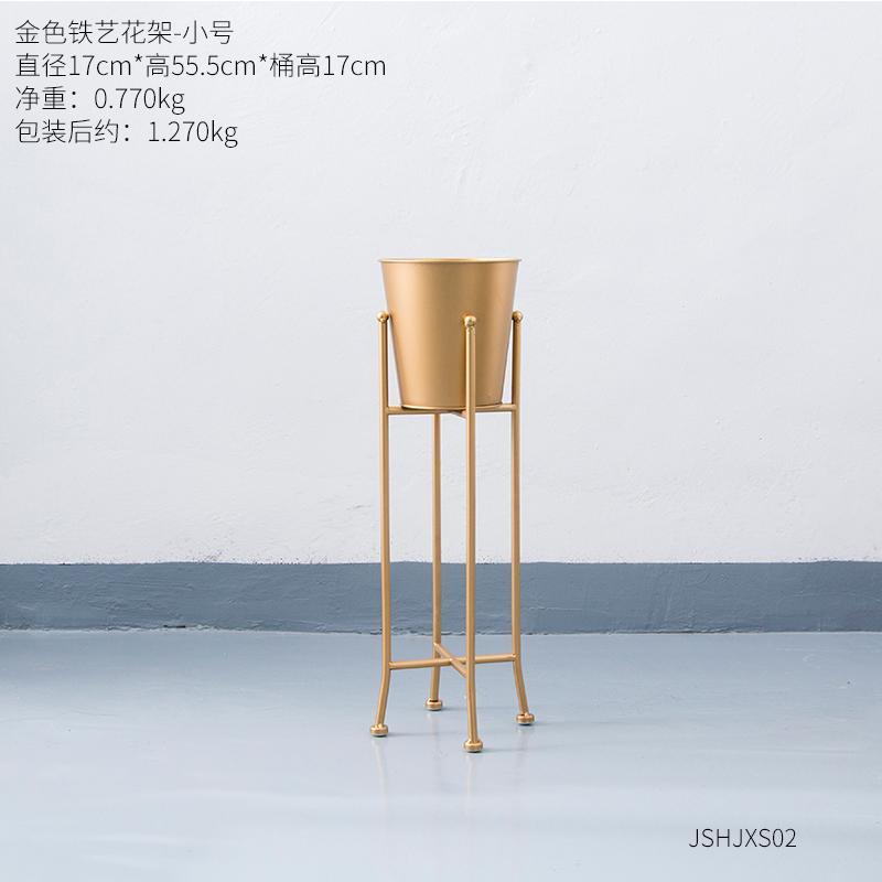 INS Nordic Iron Art Golden Boots\n Metal Flower Pot Courtyard Snnei Modern Minimalist Creative Plant Pergola