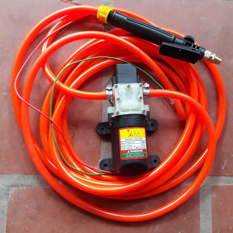 Hình ảnh Bộ Dây Vòi 6m Kèm máy bơm nước mini 12v - rửa xe đa năng