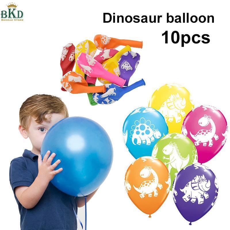 Hình ảnh Bkodak Store Multicolor Cuddly Balloons Dinosaur Latex Toy Dinosaur Balloons