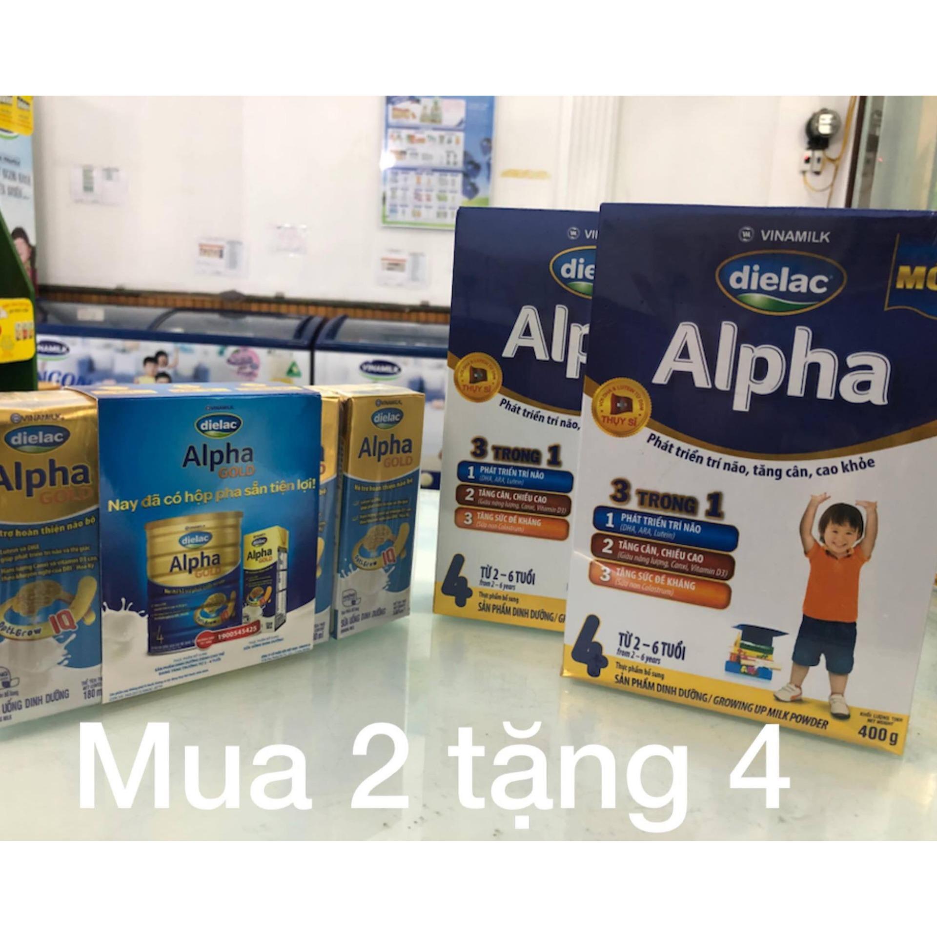Giá Bán Combo 2 Hop Sữa Bột Vinamilk Dielac Alpha 4 Hộp Giấy 400G Danh Cho Trẻ 2 6 Tuổi Nguyên