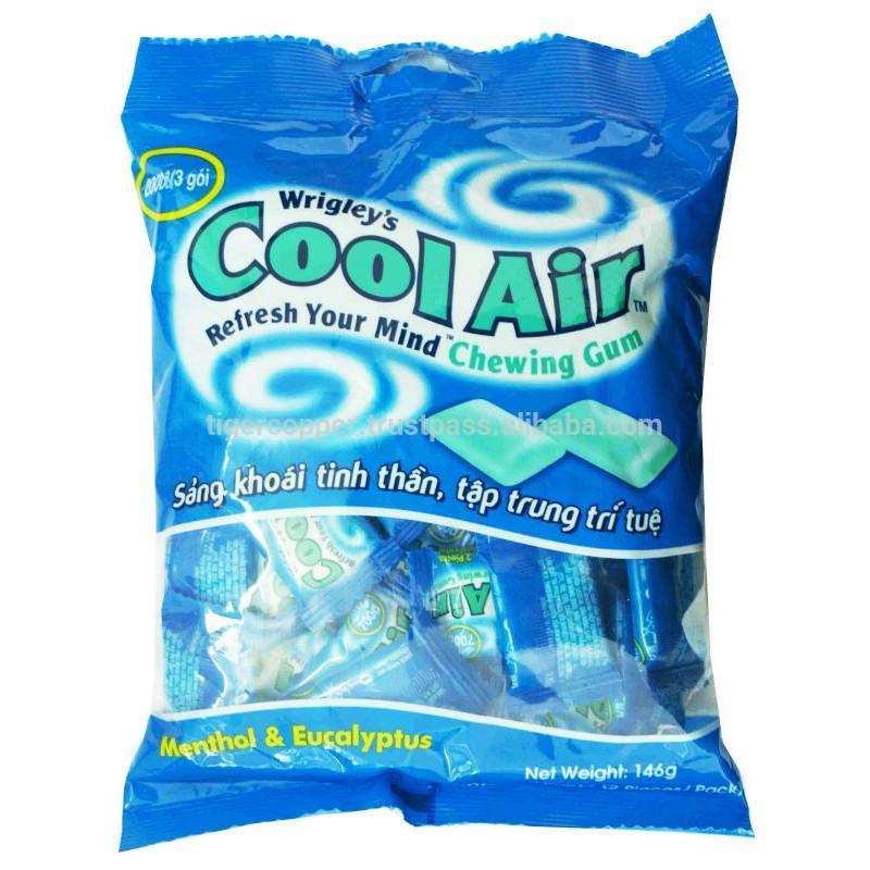 Hình ảnh Kẹo gum hương bạc hà - khuynh diệp Cool Air Wrigley' gói 116g ( 40 cái)