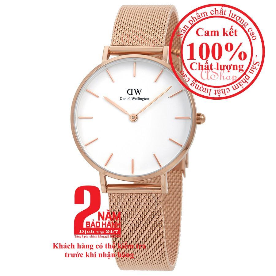 Đồng hồ nữ Daniel Wellington Classic Petite Melrose 28mm - Màu vàng hồng (Rose Gold), mặt trắng (White) DW00100219 bán chạy