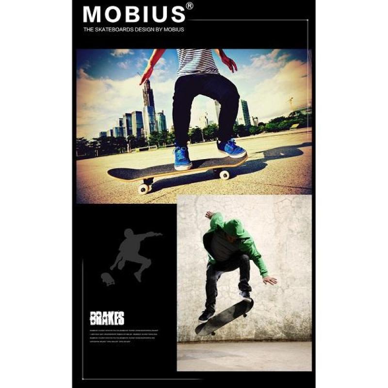 Ván trượt skateboard  người lớn  tiêu chuẩn thi đấu (chịu lực lên tới 120kg)