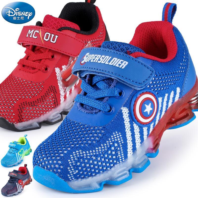 Anak-anak sepatu olahraga Disney musim semi dan musim gugur baru sepatu lapisan tunggal sepatu ...