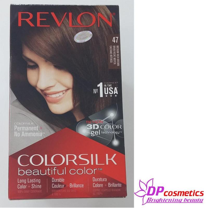 Thuốc Nhuộm Tóc Revlon Colorsilk 47- Nâu Chocolate vừa cao cấp