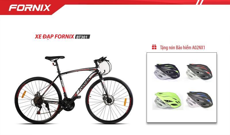 Phân phối Xe đạp thể thao FORNIX BT301 ( đen đỏ ) + tặng nón bảo hiểm A02NX1-N
