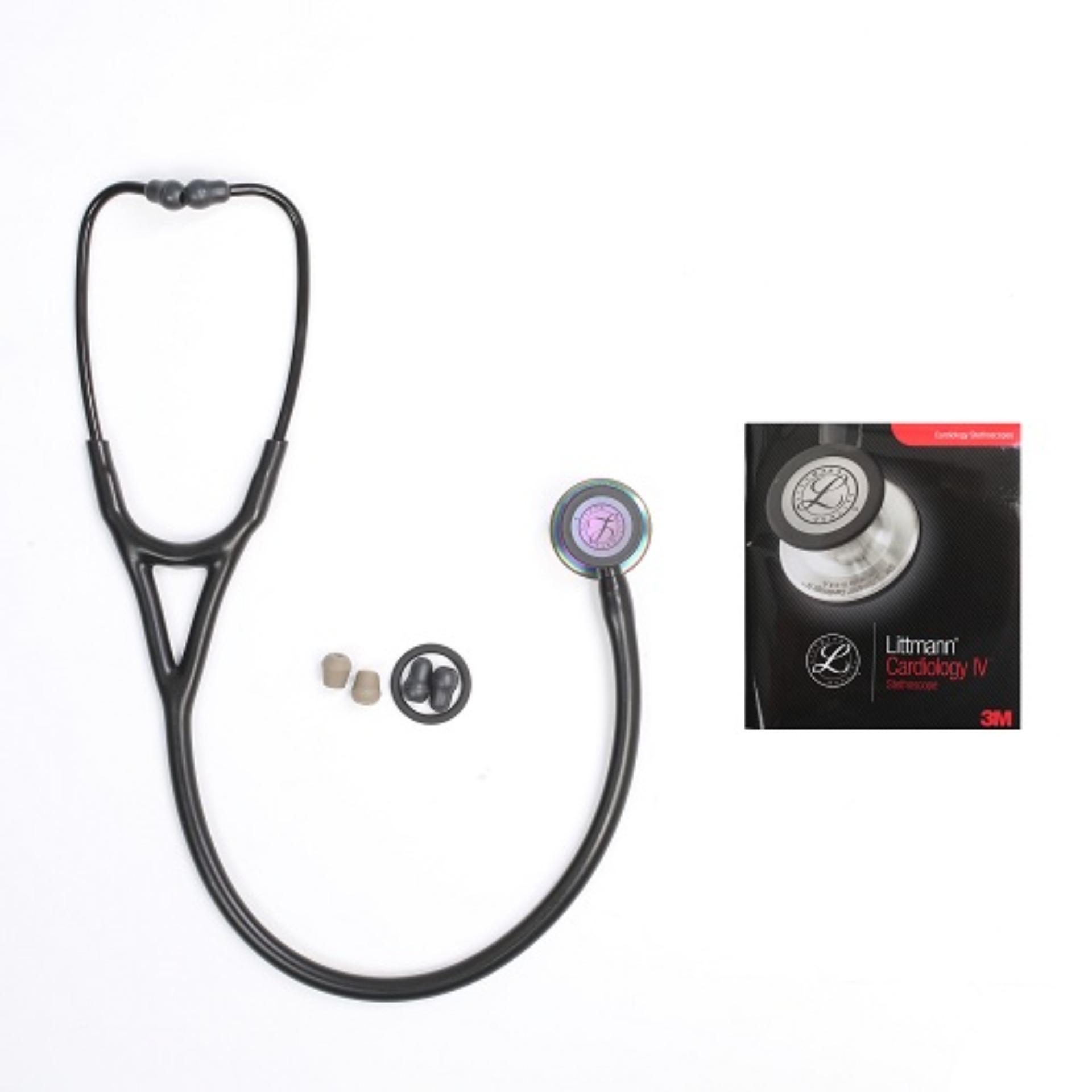 Hình ảnh Ống Nghe Littmann Cardiology I.V - Đen mặt cầu vồng 6165