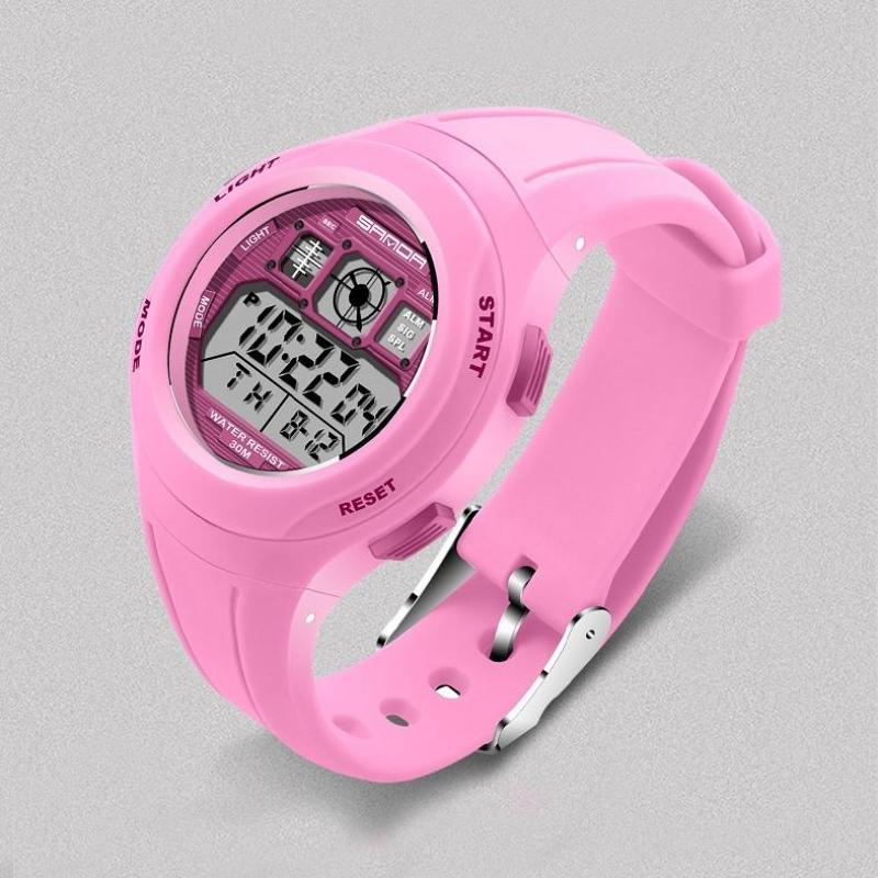 Đồng hồ trẻ em chống nước tốt bền màu hồng bán chạy