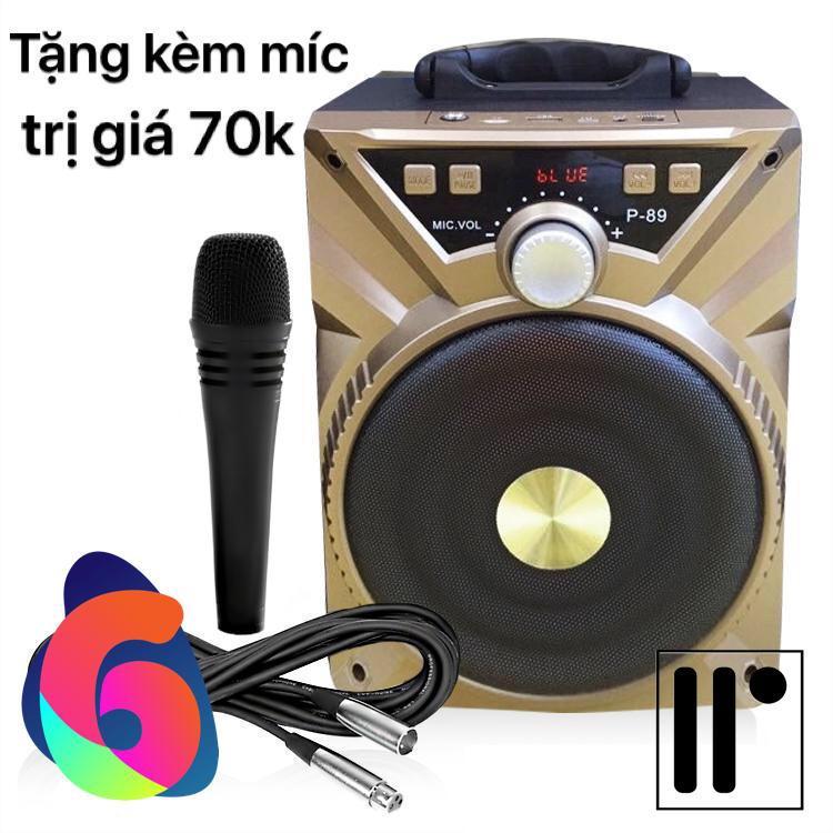 Hình ảnh Loa Bluetooth xách tay hát karaoke P87 P88 P89 có tặng kèm Micro