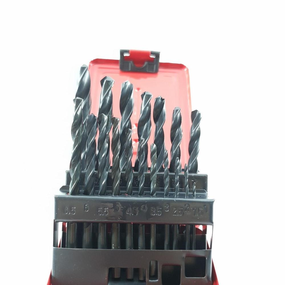 Bộ 18 mũi khoan sắt 1-10mm WEISITE thép không gỉ