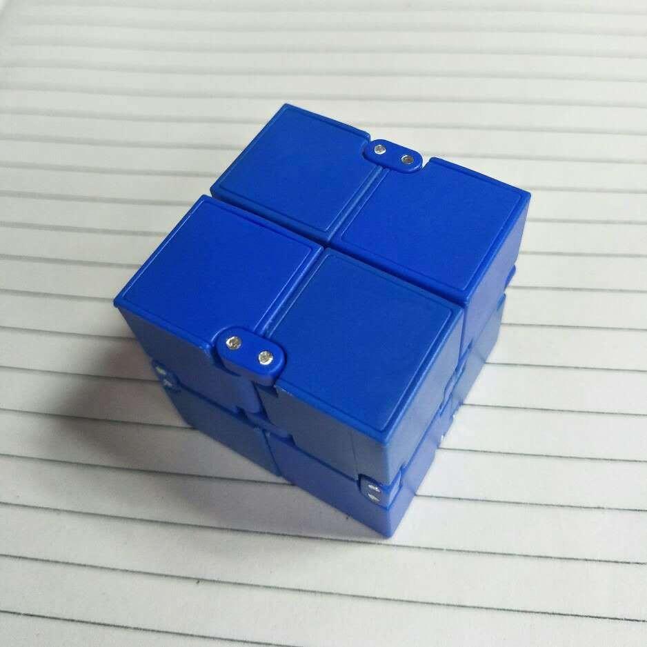 Hình ảnh Khối lập phương (Rubik) vô cực INFINITY CUBE thần kỳ (Xanh navy) GR48