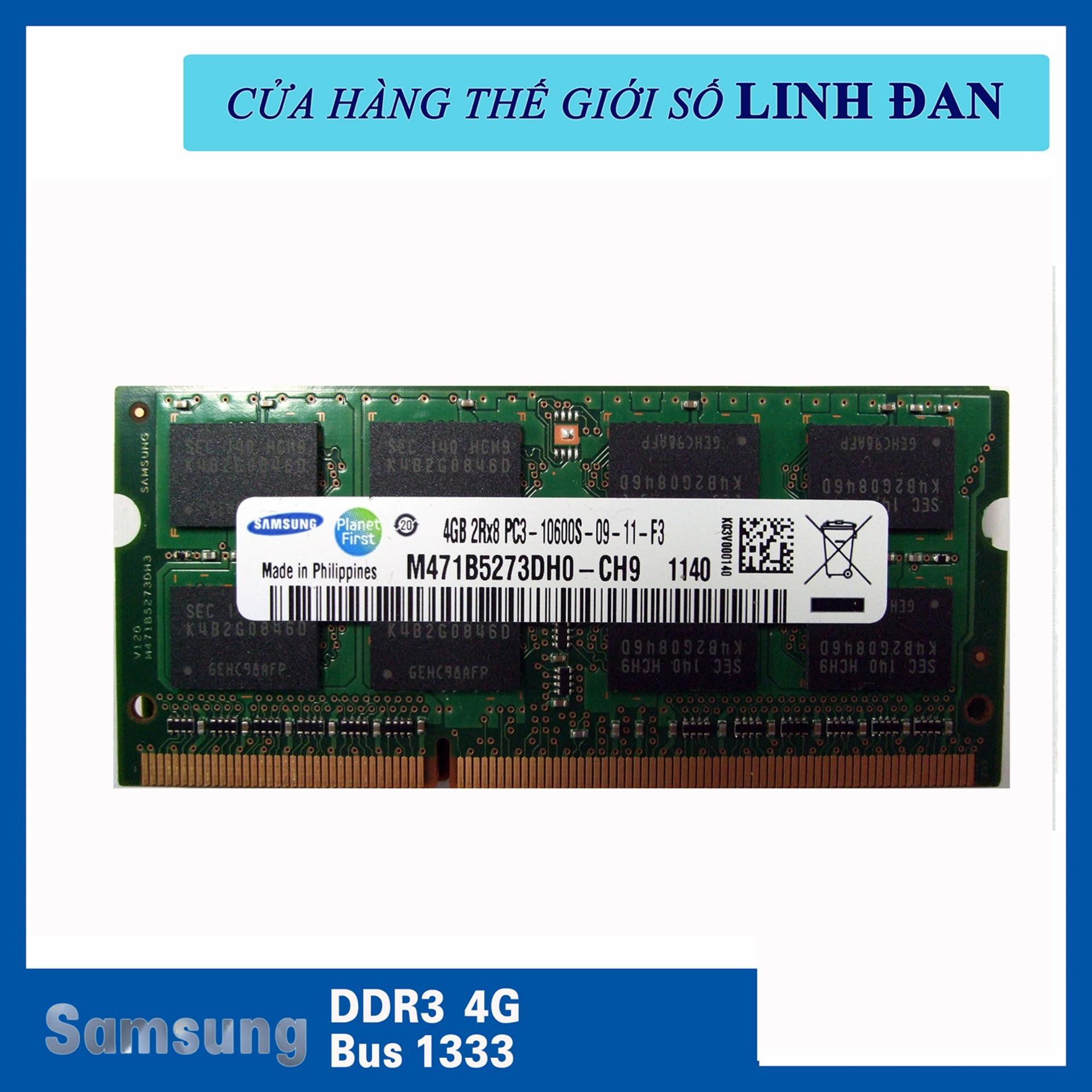 Hình ảnh Ram Laptop Samsung DDR3 4GB Bus 1333