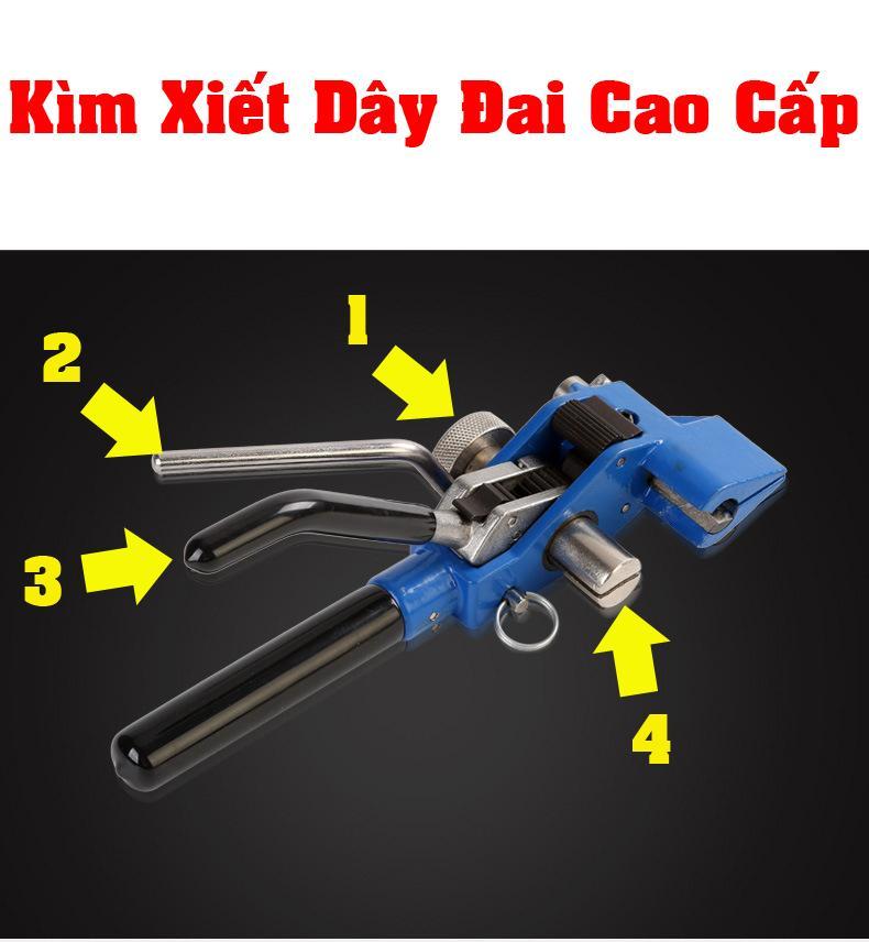 Kìm xiết dây đai inox cao cấp - Kìm rút dây đai inox cao cấp KX-02