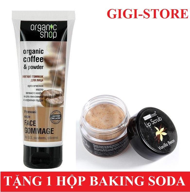 Bộ Đoi Tẩy Tế Bao Chết Da Mặt Organic Coffee Powder 75Ml Tẩy Tế Bao Chết Moi Beauty Treats Lip Scrub Vani 10 5G Tặng Kem 1 Hộp Bột Tẩy Trắng Răng Baking Soda Nt 50G Trị Gia 50 000Đ Mới Nhất