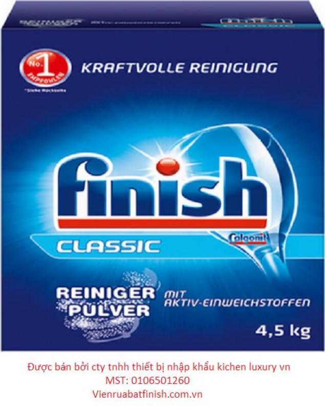 combo 3 sản phẩm bột finish 4,5kg + muối finish 1,2kg + nước làm bóng finish 1150ml - Tặng 1 hộp muối finish1,2kg