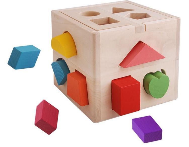 Hình ảnh Hộp thả hình khối - đồ chơi giáo dục, đồ chơi gỗ