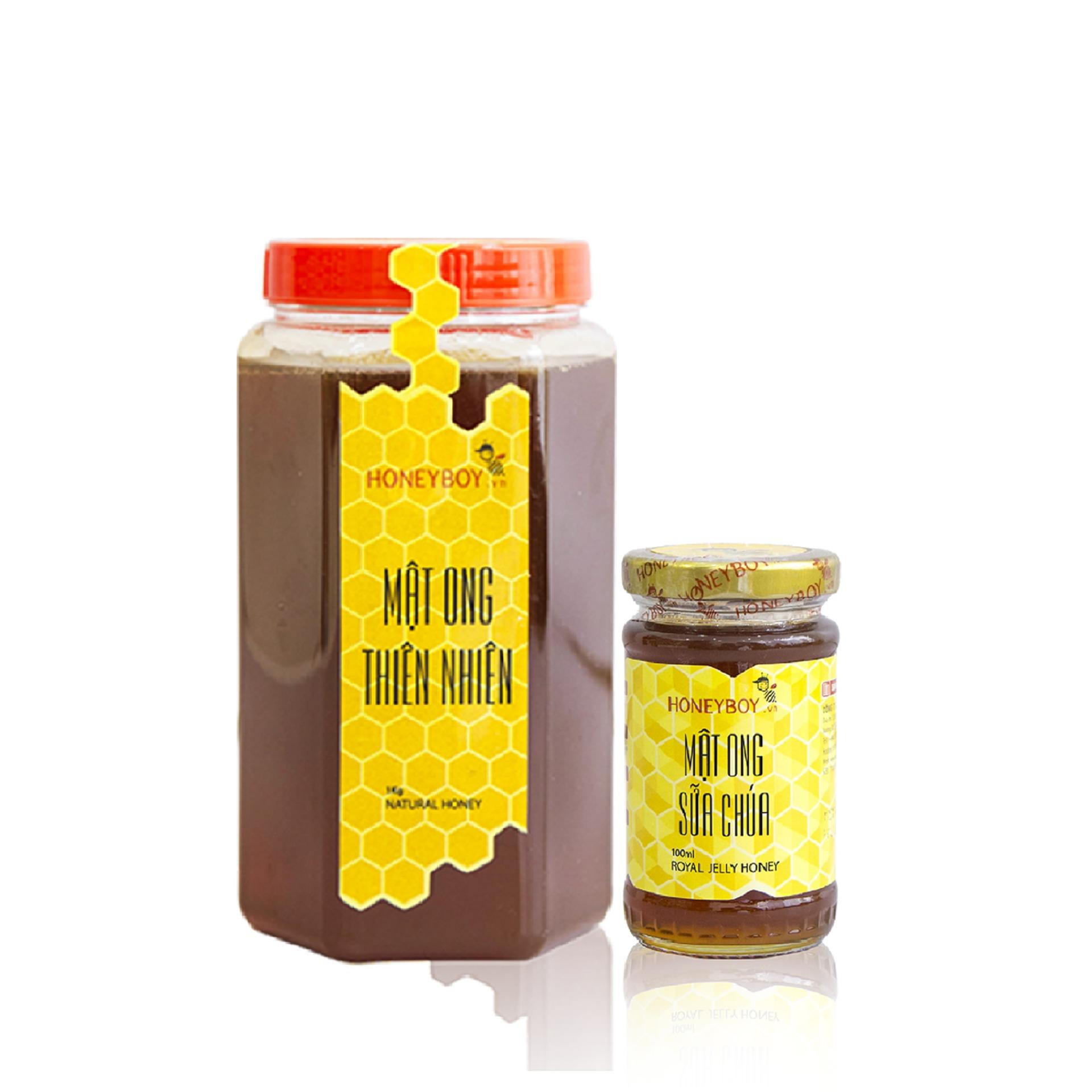 Bộ Mật Ong Thien Nhien 1Kg Va Mật Ong Sữa Chua 100Ml Honeyboy Chiết Khấu 40