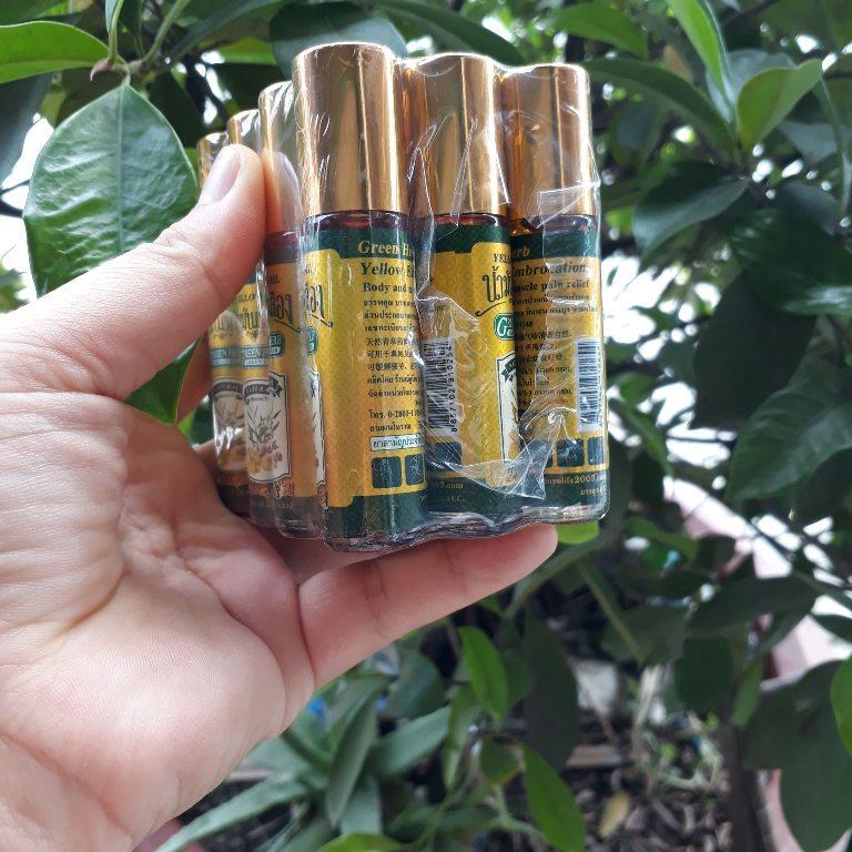 Combo 3 chai dầu lăn nghệ gừng Thái Lan