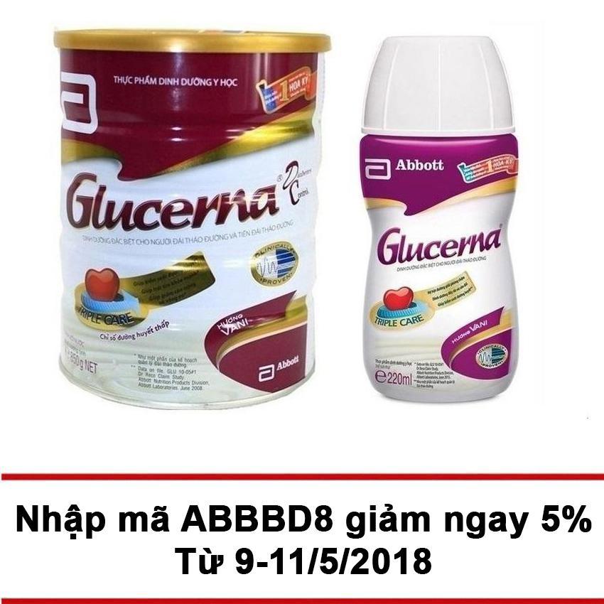 Ôn Tập Bộ Lon Sữa Bột Glucerna Hương Vani 850G Chai Nước Glucerna 220Ml Mới Nhất