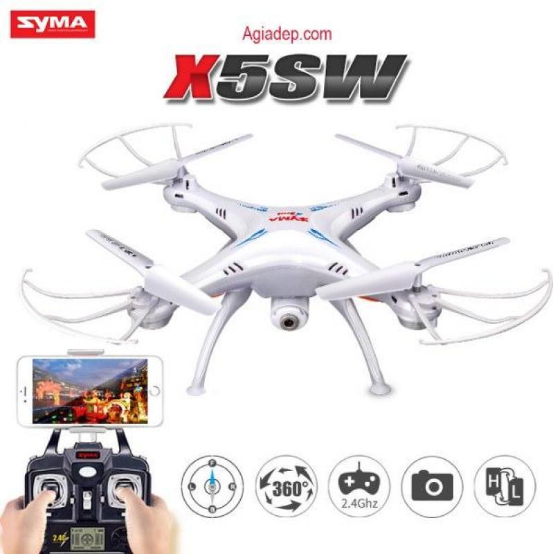 Flycam Drone Syma X5SW (Bản Châu Âu Cao cấp) Máy Bay Quay Phim - Agiadep