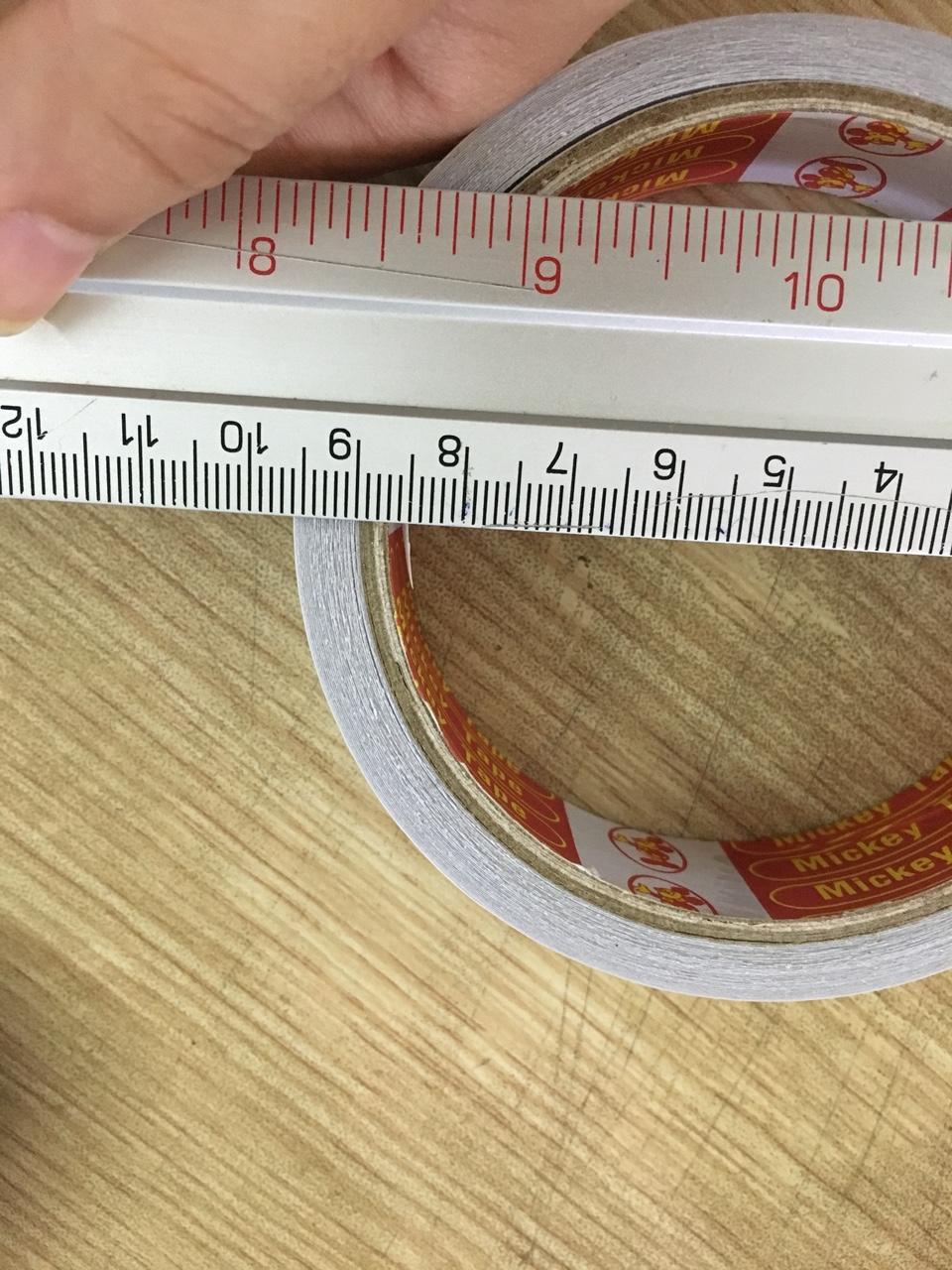 Mua Combo 10 Băng dính 2 mặt 1 cm 100Y (30 cuộn/cây)